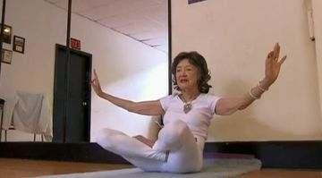 93-Year Old Woman Strikes Stunning Yoga Poses