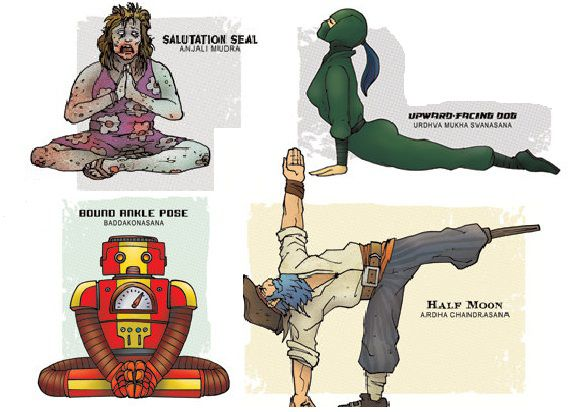 Pop Yoga Art: Zombies, Ninjas, and Pirates