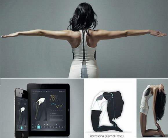High Tech Yoga Shirt with Asana-Correcting Sensors