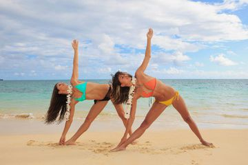 Prop Yourself Up With Sand - 5 Sunny Beach Yoga Poses