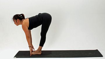 How To Do Half Standing Forward Bend Pose