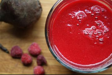 The Perfect After-Yoga Raspberry-Beet Protein Smoothie