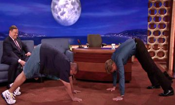 Conan O'Brien Gets Down with Down Dog (VIDEO)