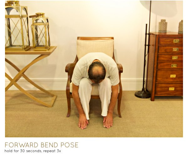 Chair yoga - forward bend