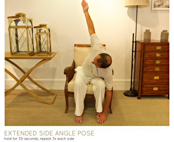 chair yoga - extended side angle