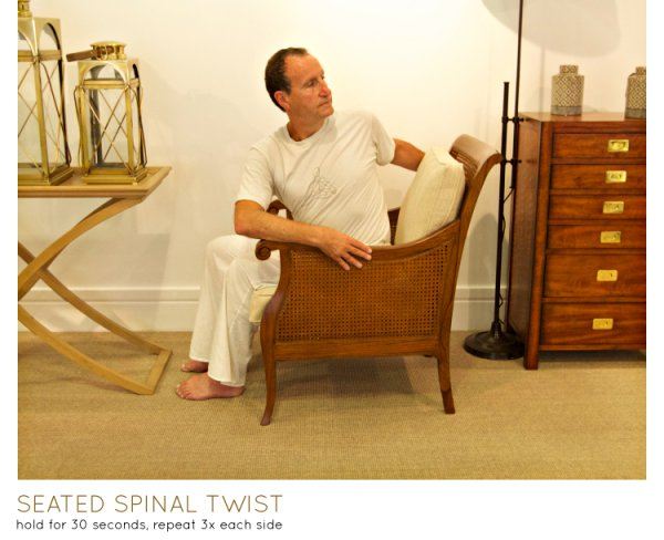 chair yoga - seated spinal twist
