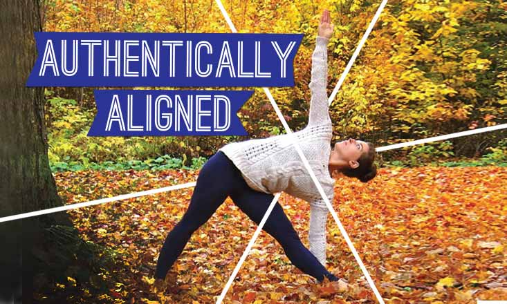 Authentically Aligned Triangle Pose