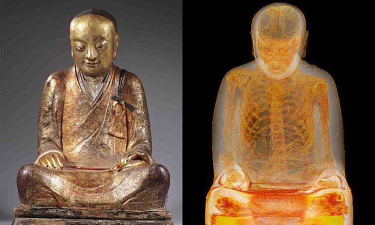 Meditating Monk's Remains Found Inside Millennium-Old Buddha Statue