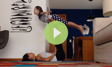 Adorable Duo Rocks Some Acro Kids Yoga (VIDEO)