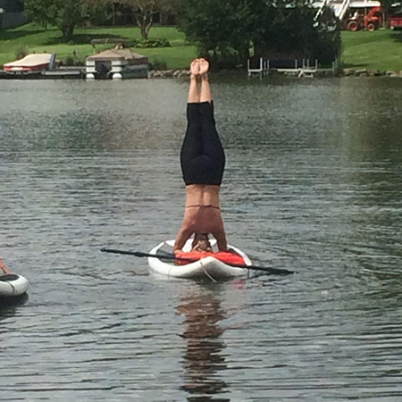 Headstand On A Boat