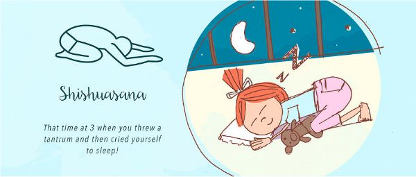 13 funny examples of unintentional asana practice - child's pose