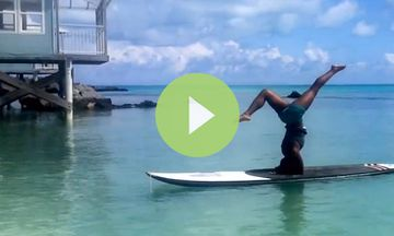 5-Minute SUP Yoga Sequence Demo (VIDEO)