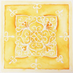 Yantra representation for the Earth element, by Susan Fauman
