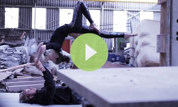 Beautiful AcroYoga Sequence Mixes Grace and Urban Cool (VIDEO)