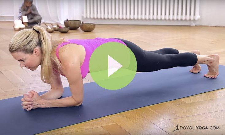 Simple Core Strength Yoga for Beginners (VIDEO)