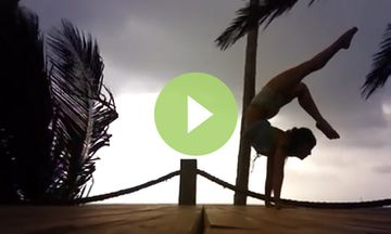 Watch Meghan Currie Sail Through Her Oceanside Yoga Practice (VIDEO)