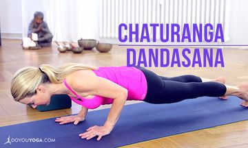 How to do Chaturanga Dandasana or Four-Limbed Staff Pose