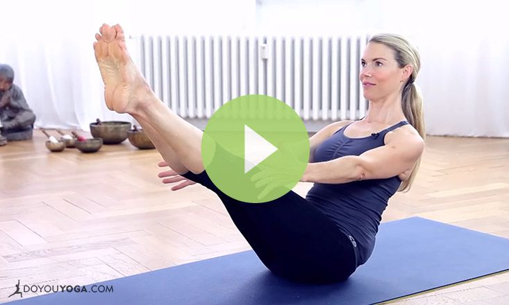 Yoga For Abs With Kristin Mcgee Video Doyou