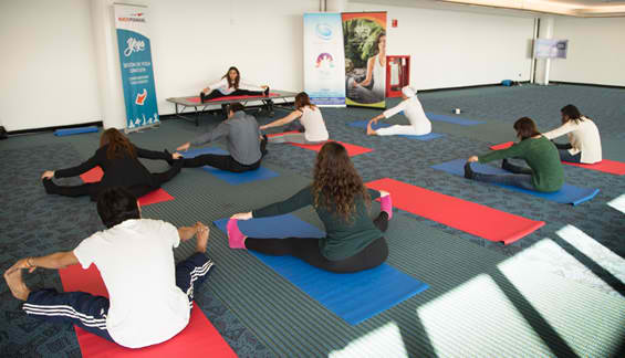 chile airport yoga 2