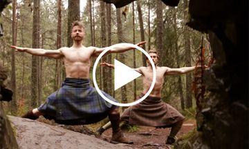 VIRAL: Watch These Beautiful Kilted Men Doing Yoga (VIDEO)