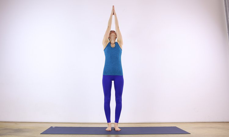 extended mountain pose